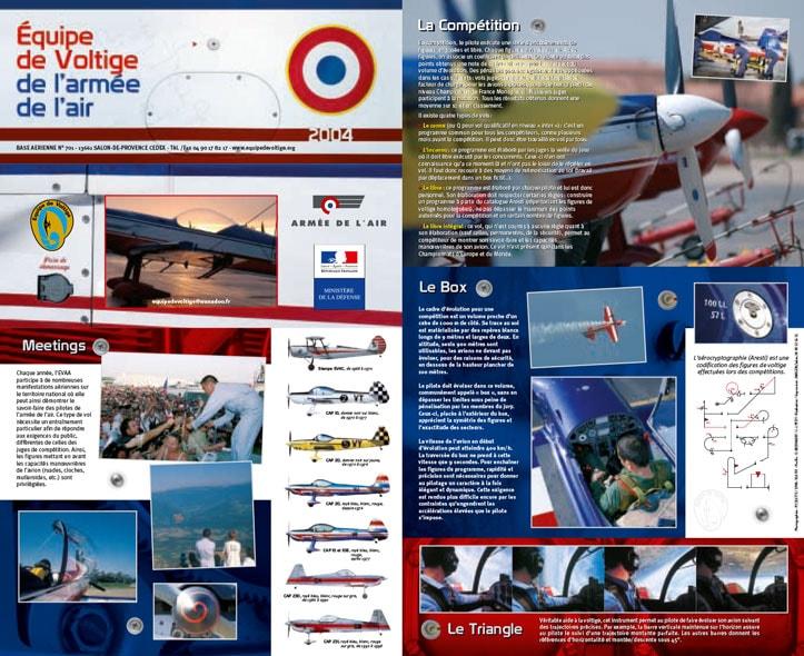 Recto dépliant 2004 de l'Équipe de Voltige de l'Armée de l'Air