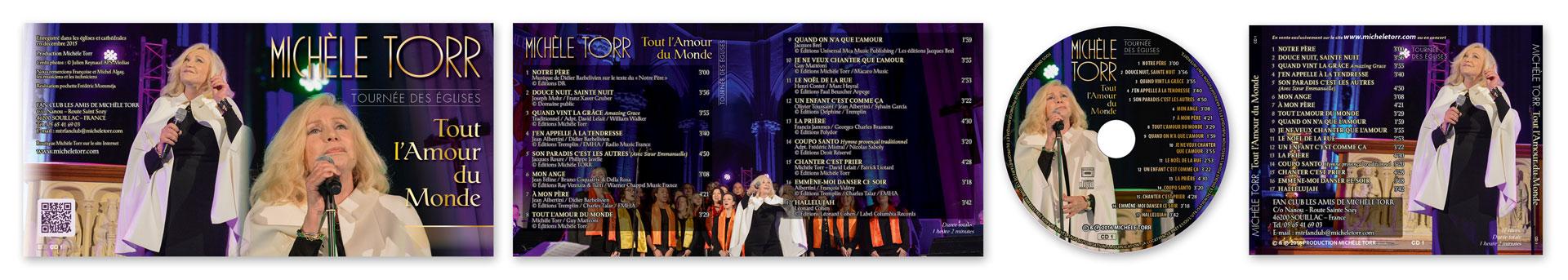 Pochette CD M. Torr Tout l'Amour du Monde