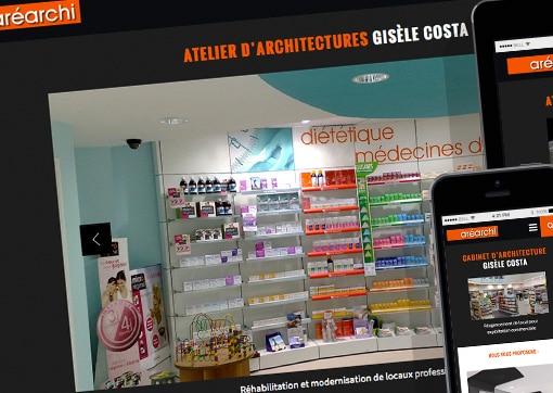 Site de l'atelier d'architectures Aréarchi