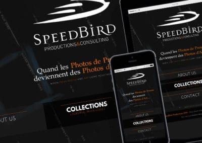 Site de SpeedBird Productions & Consulting