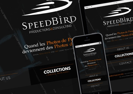 Site de SpeedBird Productions & Consulting