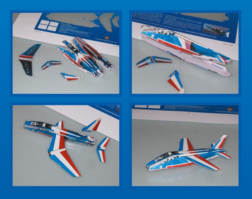 Photos paper toy Alphajet PAF