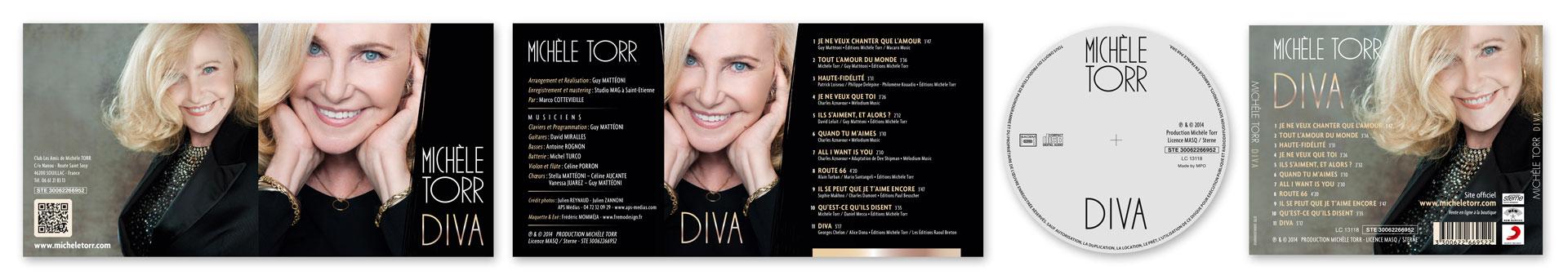 Pochette CD M. Torr Diva